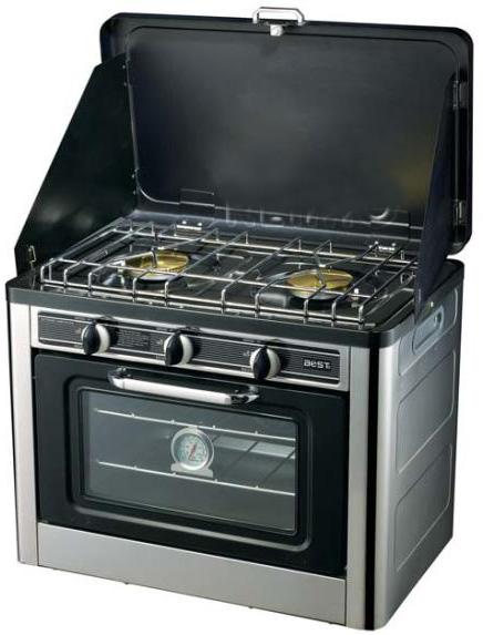 cucina da campo portatile 2 bruciatori forno termocoppia ...
